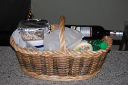 Lluis basket now a hamper