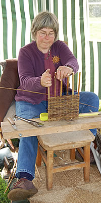 Basketry by performance artist