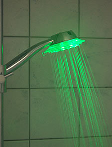 Shower light and temperature