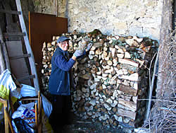 stacking wood - Winter is around