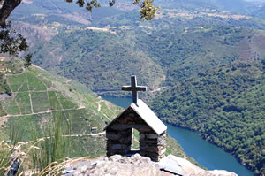 View of Ribeira Sacra and river Sil