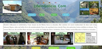 The new site & layout of life in galicia dot com